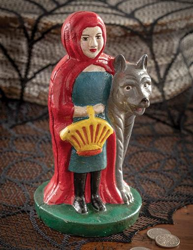 Little Red Riding Hood Vintage Cast Iron Bank