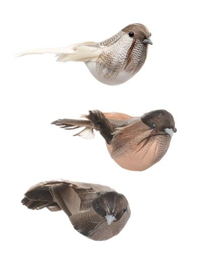 Winter Sparrows Ornament Clips (Set Of 3)