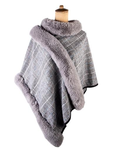 Wuthering Heights Fur Trimmed Poncho
