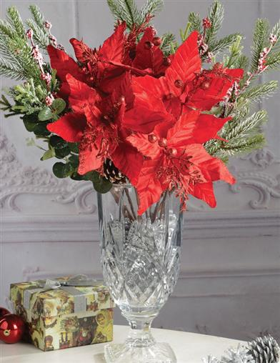 Red Poinsetta (Set Of 3)