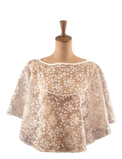 Lady Capulet Beaded Lace Capelet