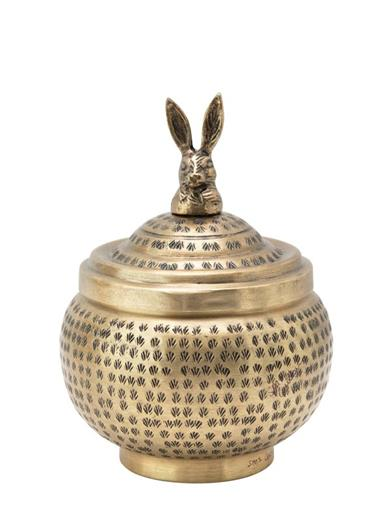 Riveting Rabbit Hammered Metal Container