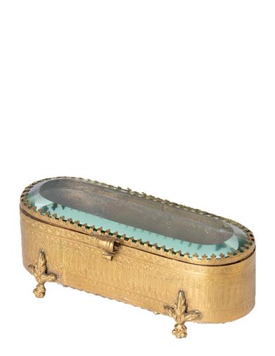 Footed Filigree Spectacles Casket