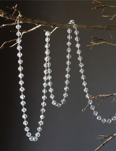 Faceted Crystal Beaded Garland