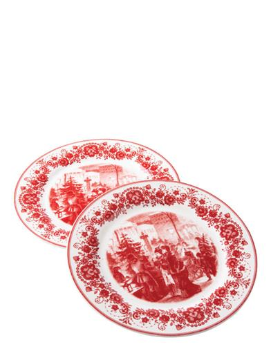 Selecting The Tree Transferware Dishes (Set Of 2)