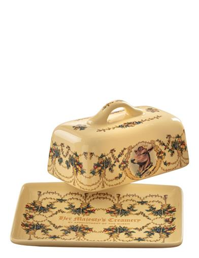 The Queen's Creamery Butter Dish