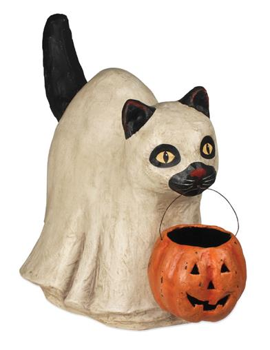 Bethany Lowe's Trick-or-treat Ghost Cat
