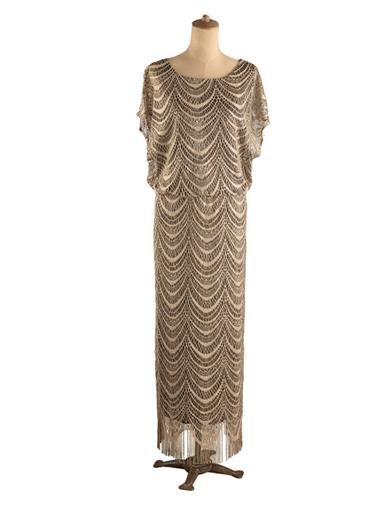 Gilded Gatsby Lace Gown