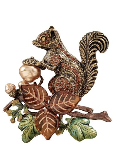 Nettie's Nest Squirrel Brooch