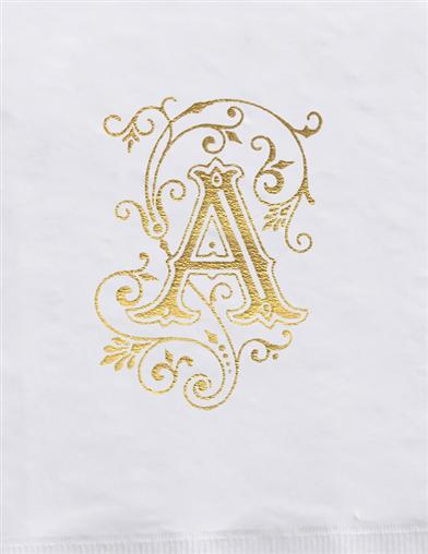 Monogrammed Initial Guest Towels