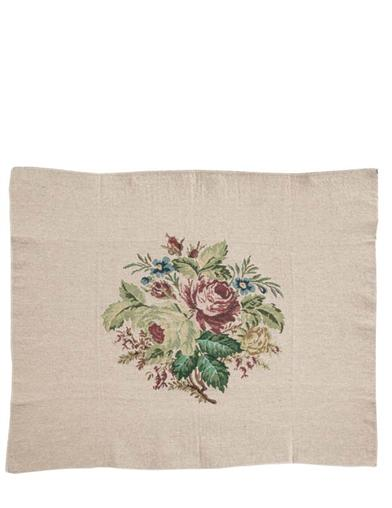 Belgian Bouquet Tapestry Chair Cover