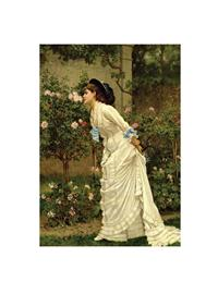 A Girl And Roses