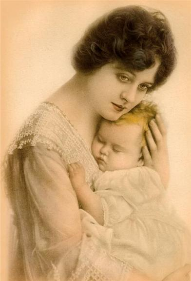 Mother & Child (Pkg Of 8 Birth Announcement Cards)