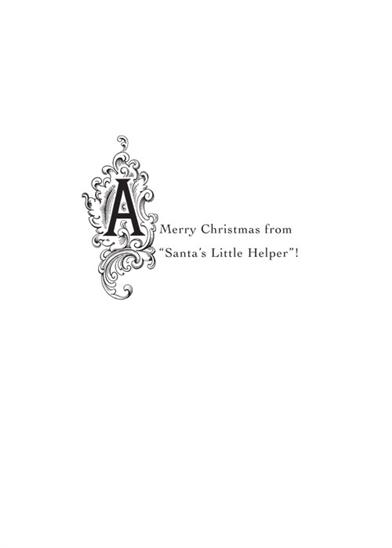 Santa's Helper (Pkg Of 10 Fancies Cards)