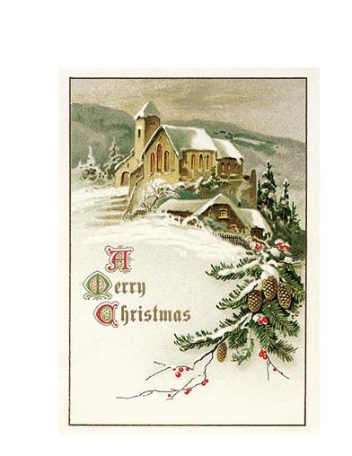 Church And Snow Christmas Cards (Pkg Of 10)
