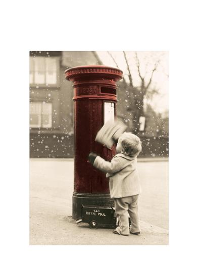 Boy Mail Letter To Santa Christmas Card (Pk Of 10)