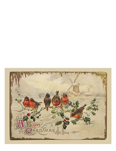 Birds And Holly Christmas Cards (Pkg Of 10)