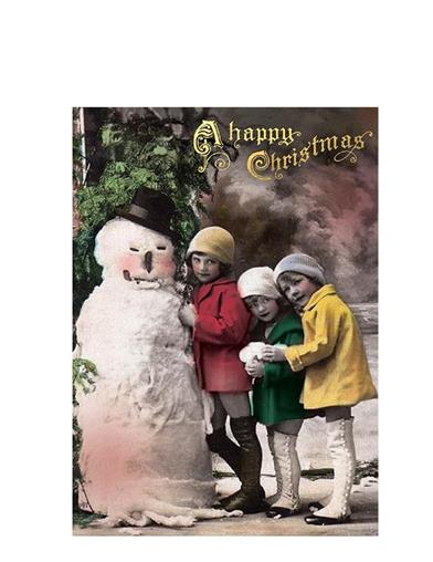 Snowman And Girls Christmas Cards (Pkg Of 10)