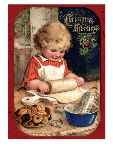 Cookie Tray Girl (Pkg Of 12)