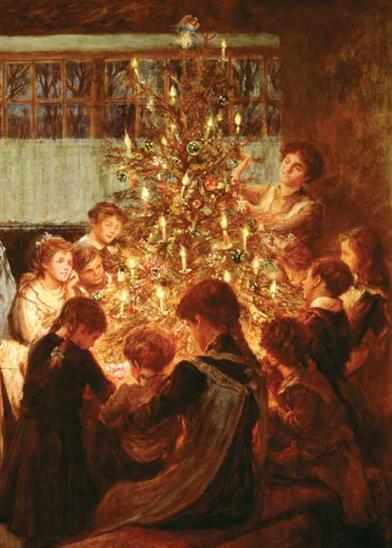 Gathered Round The Tree(pkg Of 10 Christmas Cards)