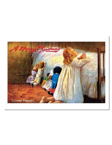 Evening Prayers (Pkg Of 10 Christmas Cards)