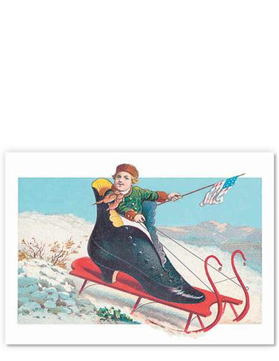 Shoe Sled (Pkg Of 8 Notecards)