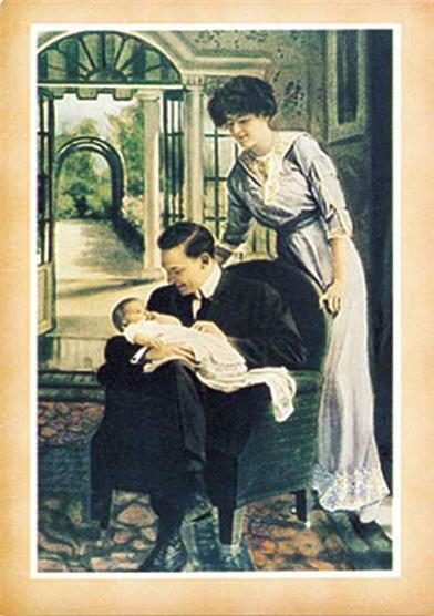 Father Holding Baby (Pkg Of 8 Notecards)