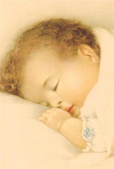 Sleeping Baby (Pkg Of 8 Thank You Cards)